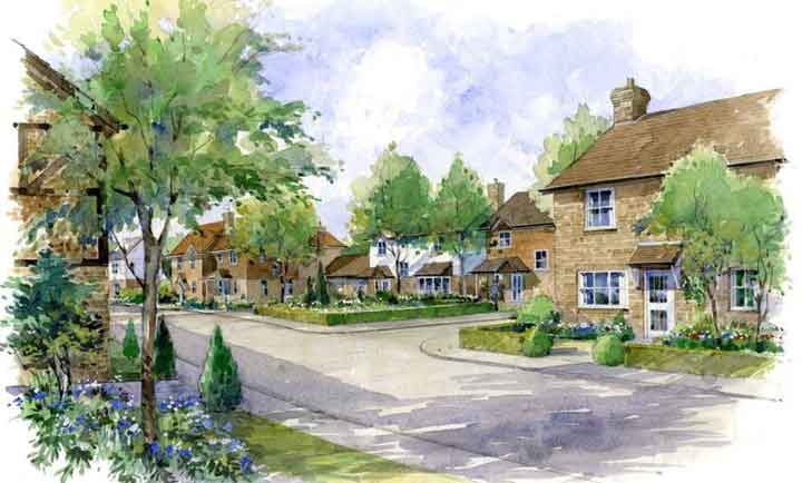 Artists impression of Cranleigh development