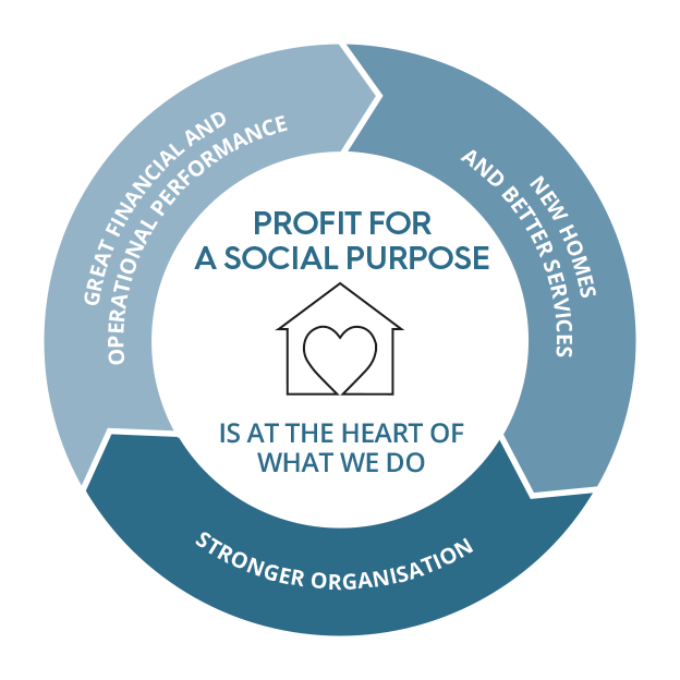 Profit for a social purpose is at the heart of what we do - infographics