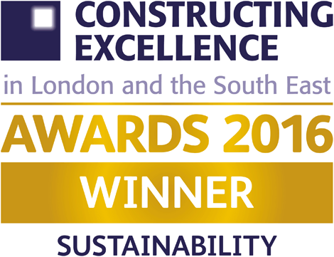 Constructing Excellence Awards 2016 Winner Sustainability award