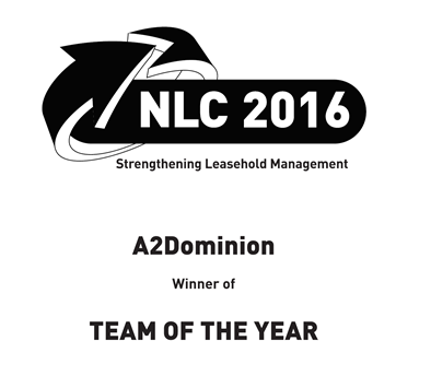 National Leasehold Conference 2016 Winner Leasehold Services Team of the Year